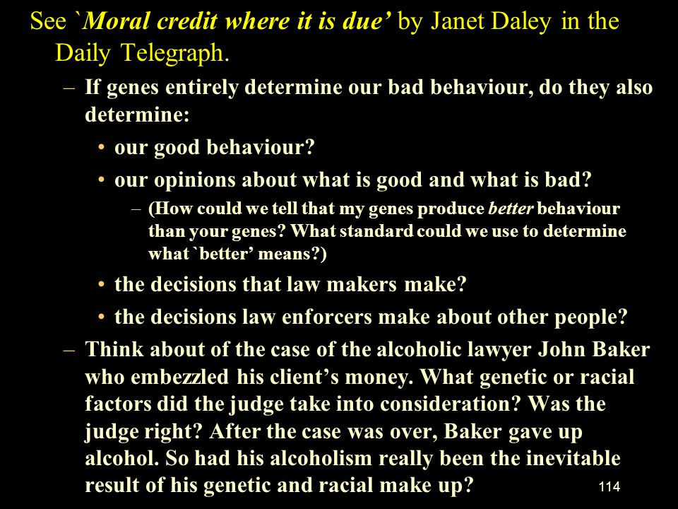 See `Moral credit where it is due' by Janet Daley in the Daily Telegraph.