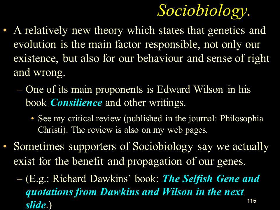 Sociobiology.