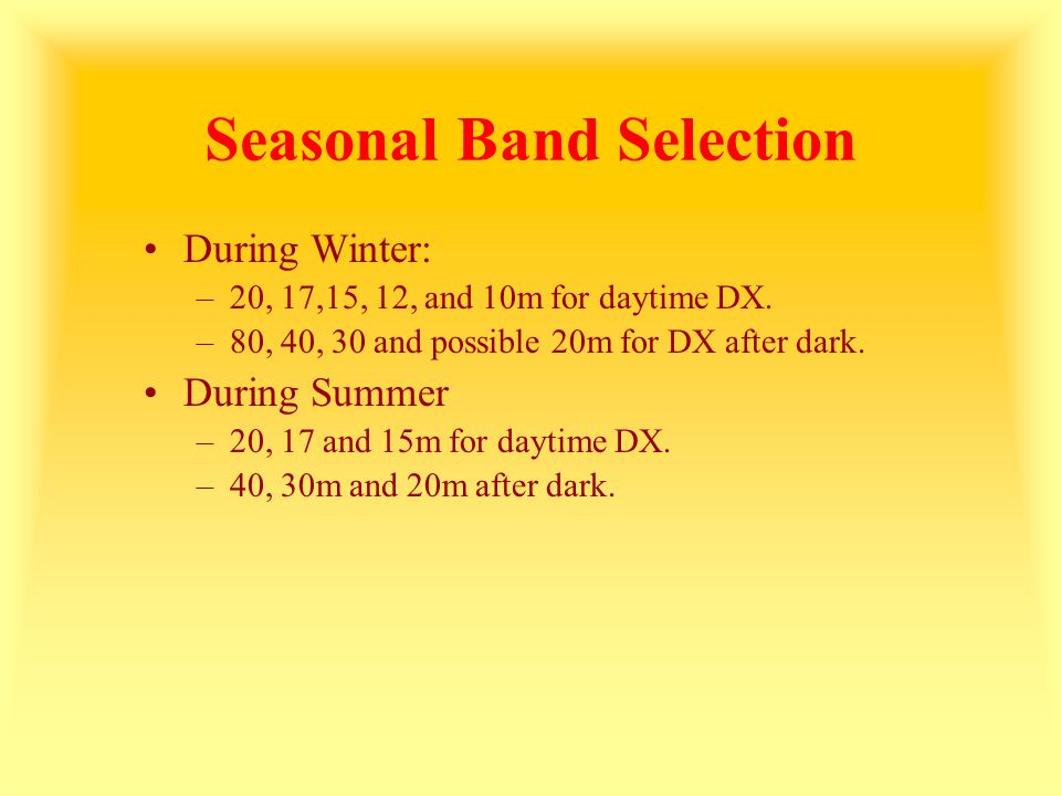 Seasonal Band Selection
