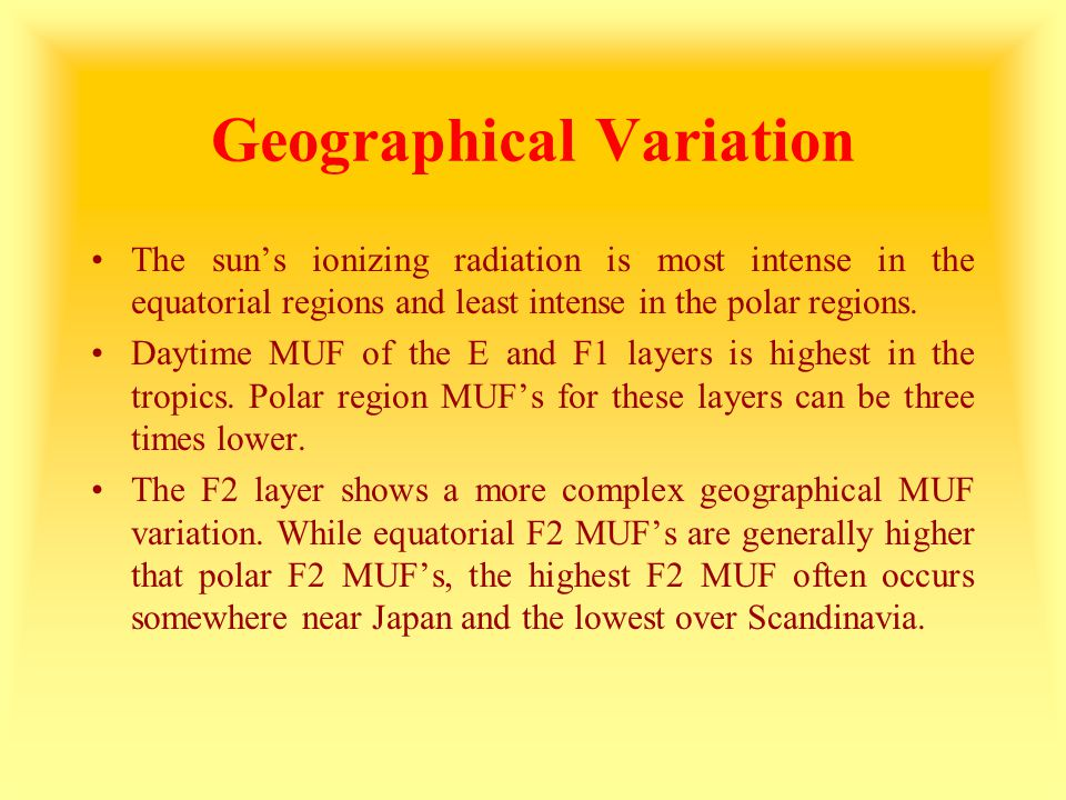 Geographical Variation