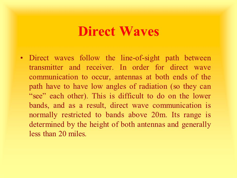 Direct Waves