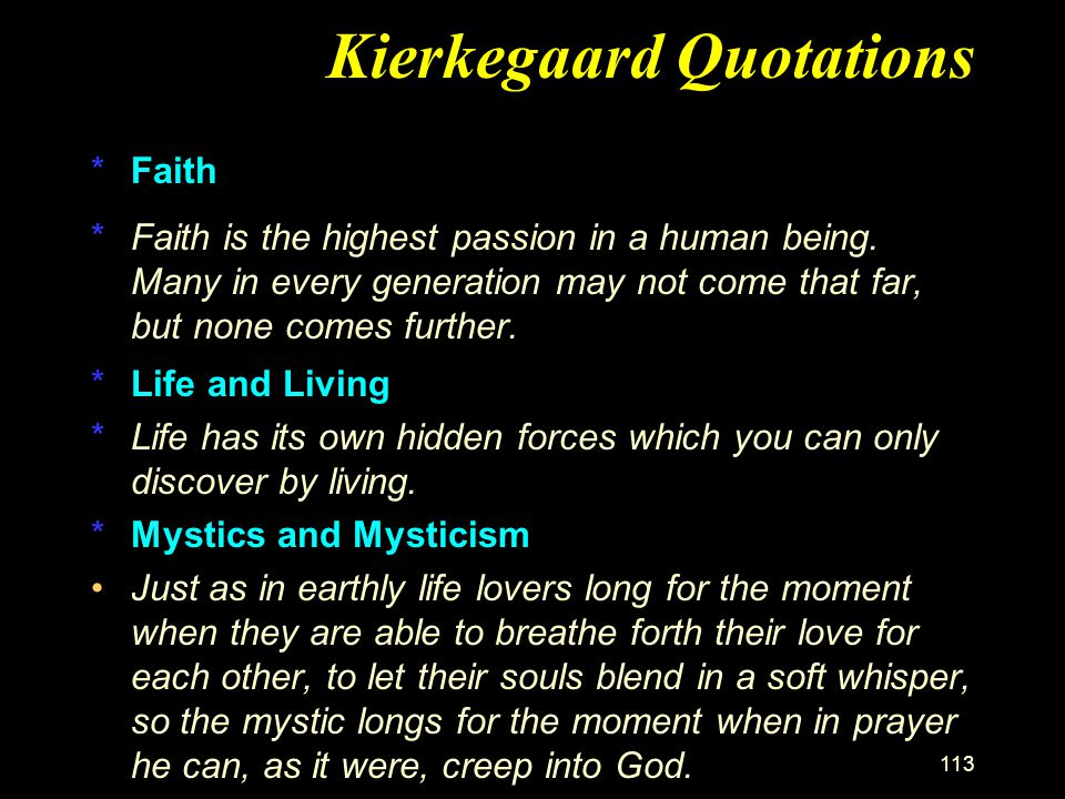 Kierkegaard Quotations