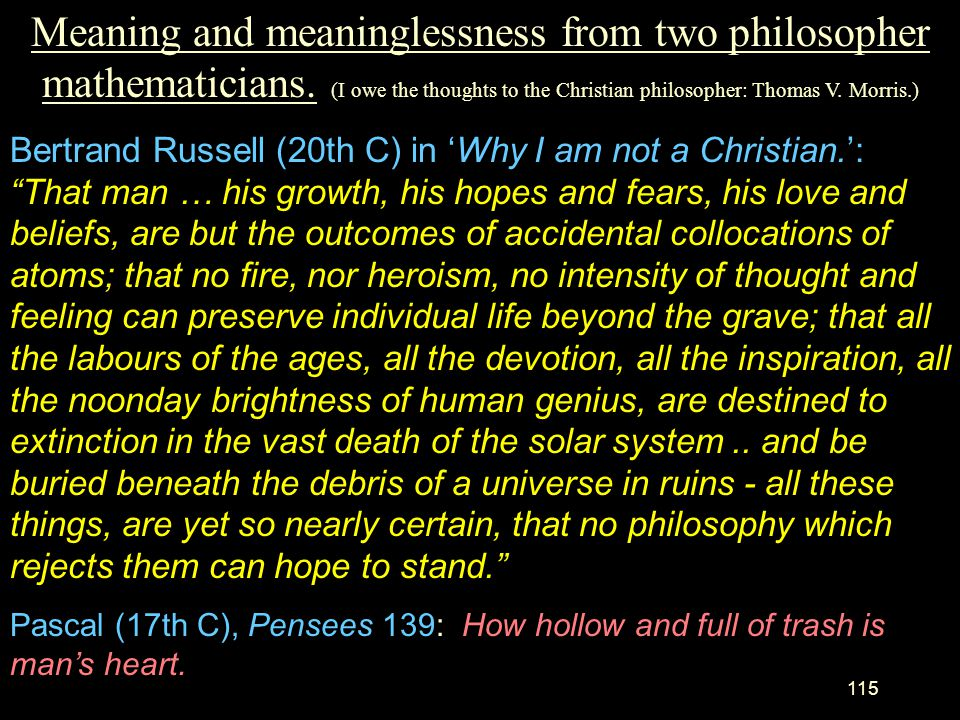 Meaning and meaninglessness from two philosopher mathematicians