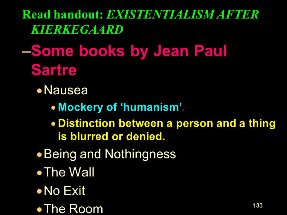 Some books by Jean Paul Sartre