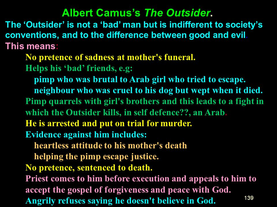 Albert Camus's The Outsider.