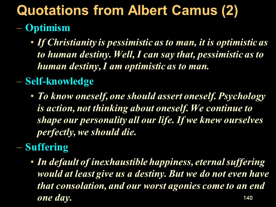 Quotations from Albert Camus (2)