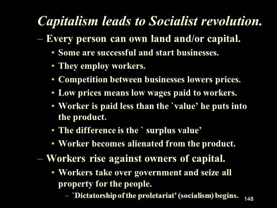 Capitalism leads to Socialist revolution.