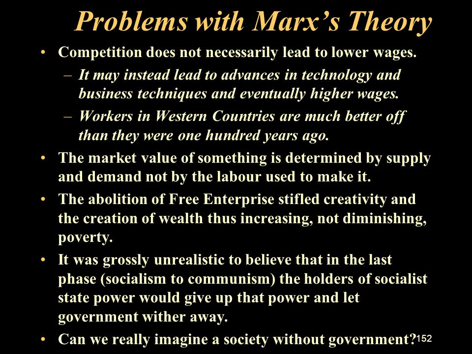 Problems with Marx's Theory