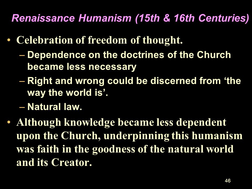 Renaissance Humanism (15th & 16th Centuries)