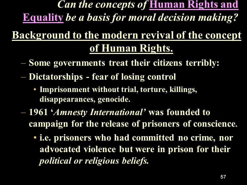 Background to the modern revival of the concept of Human Rights.