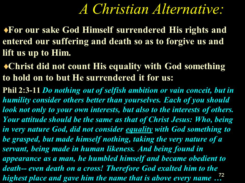 A Christian Alternative: