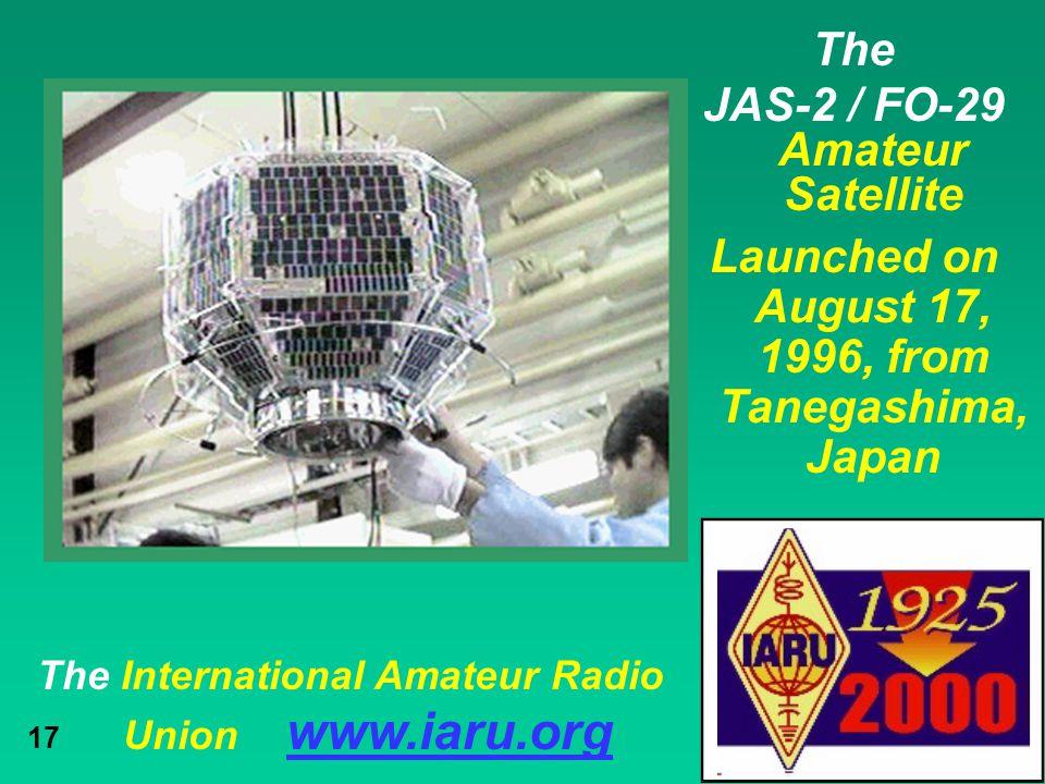 JAS-2 / FO-29 Amateur Satellite