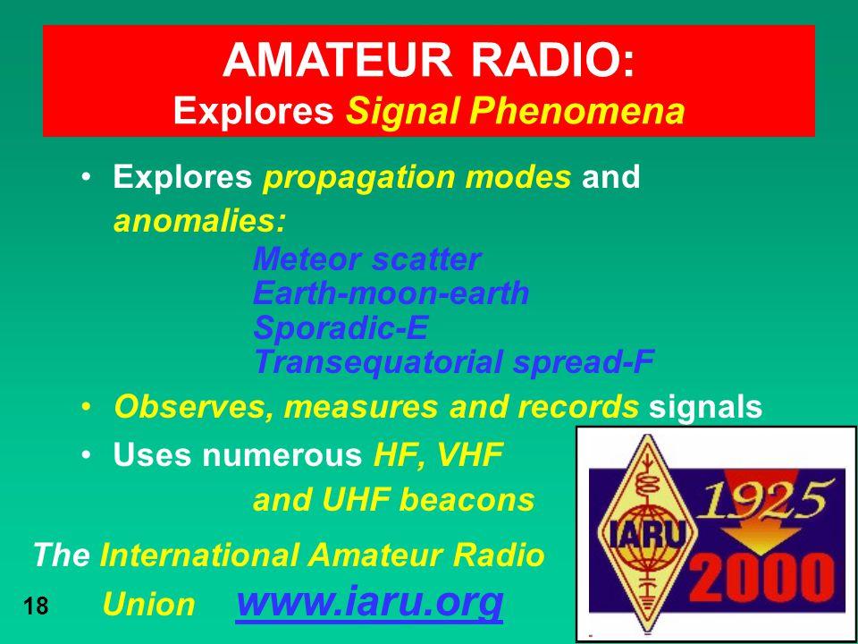 Explores Signal Phenomena