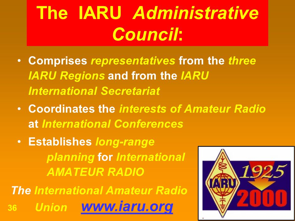 The IARU Administrative Council:
