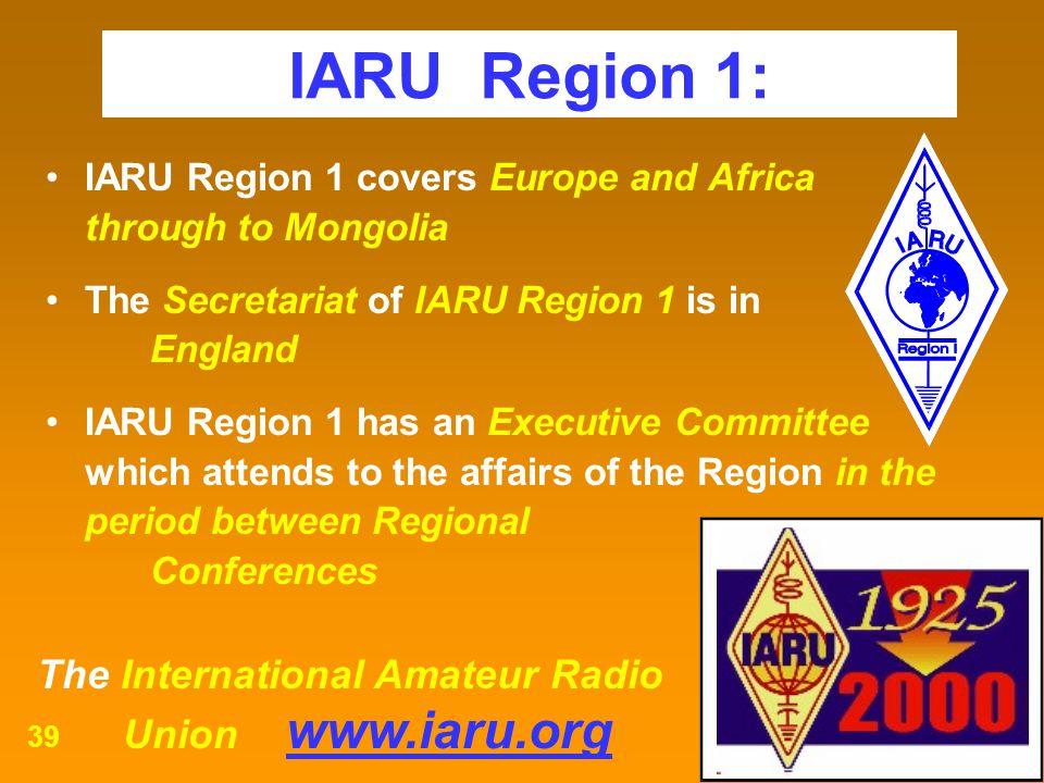 IARU Region 1: Union www.iaru.org
