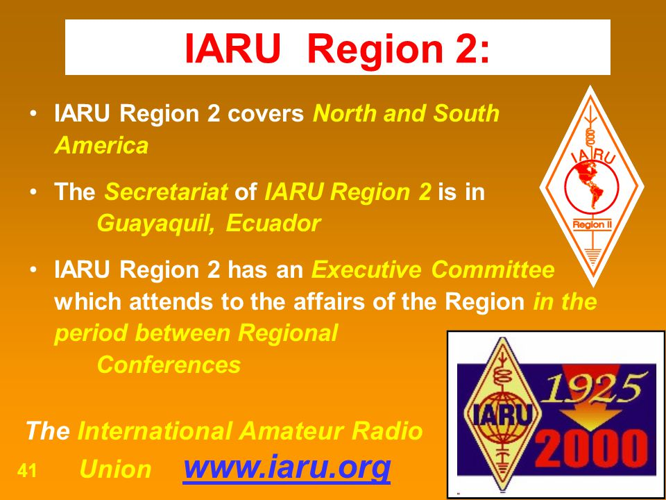 IARU Region 2: Union www.iaru.org