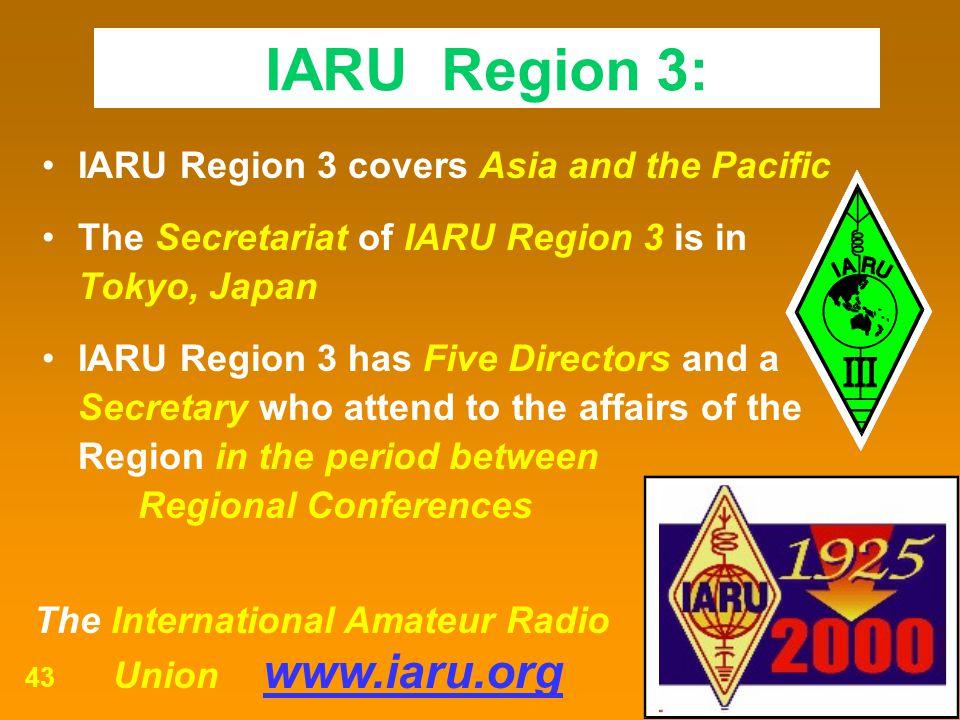 IARU Region 3: IARU Region 3 covers Asia and the Pacific