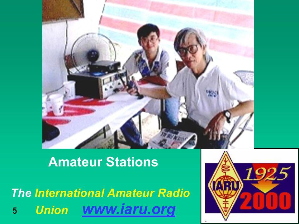 Amateur Stations The International Amateur Radio Union www.iaru.org