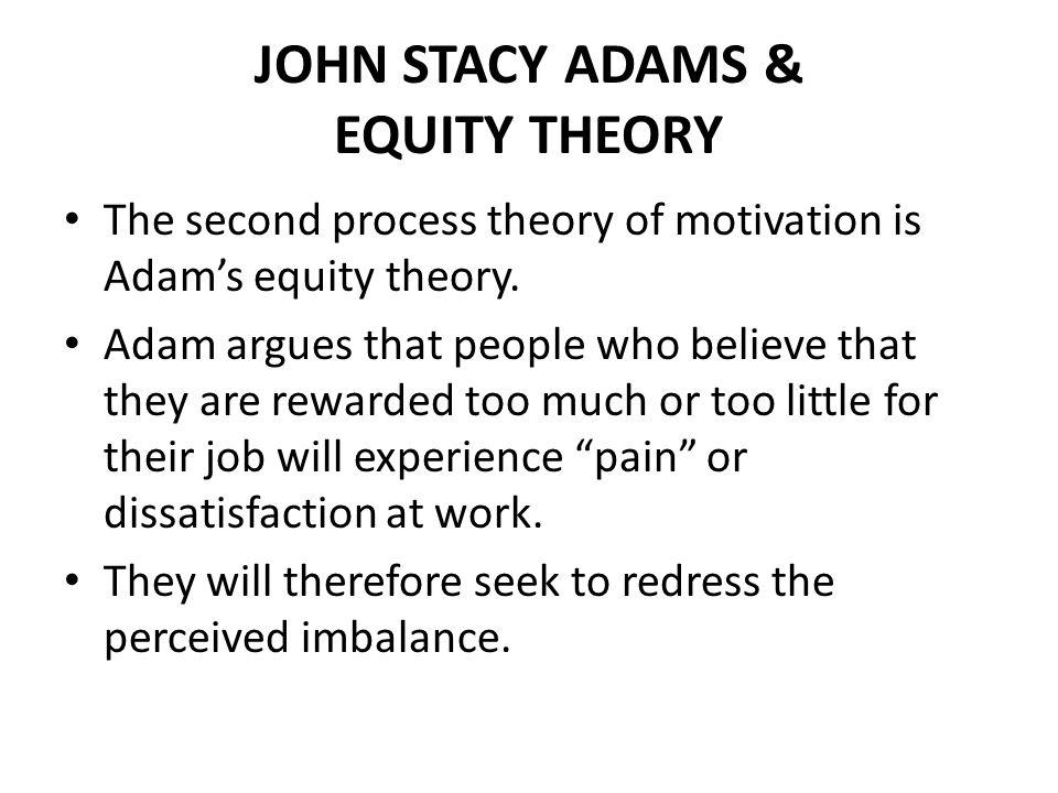 JOHN STACY ADAMS & EQUITY THEORY