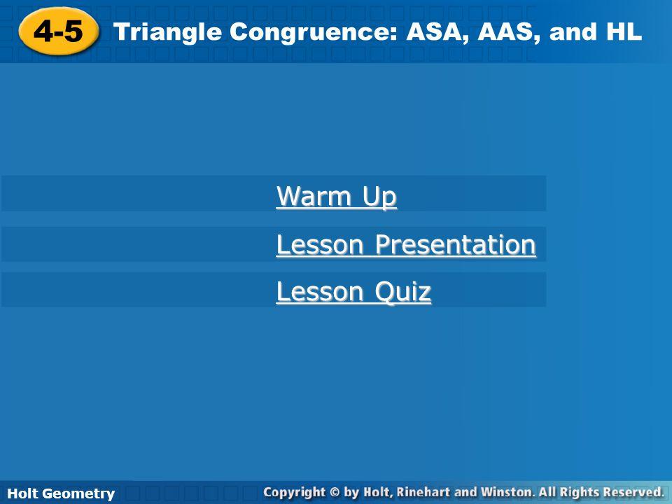4-5 Warm Up Lesson Presentation Lesson Quiz