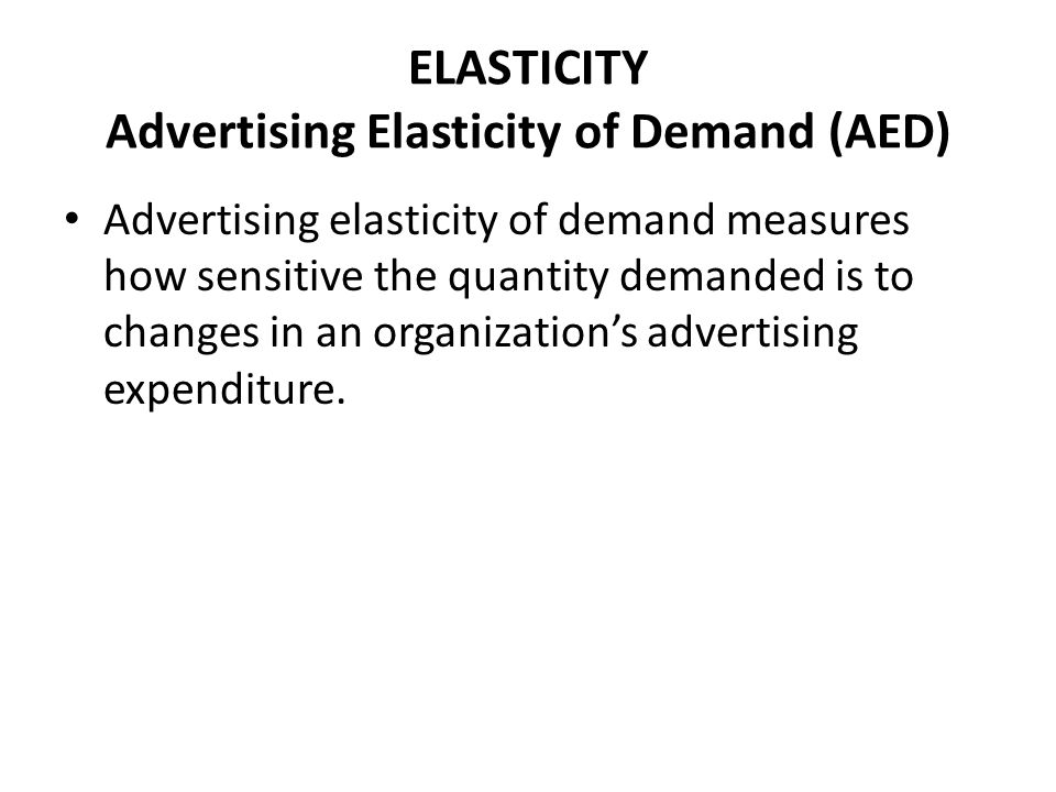 HL MARKETING THEORY ELASTICITY - ppt video online download