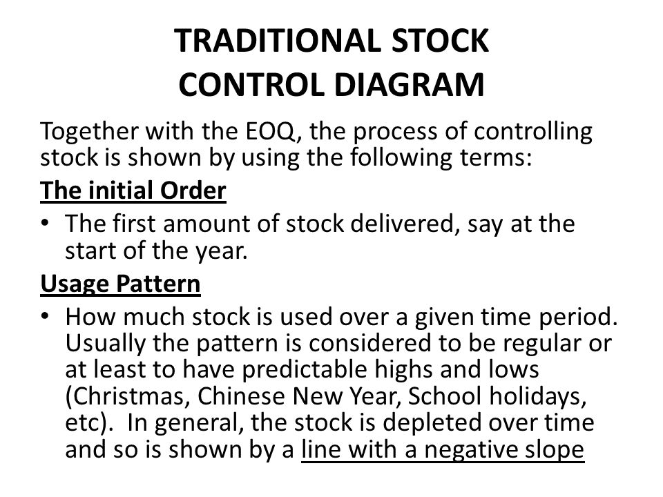 TRADITIONAL STOCK CONTROL DIAGRAM