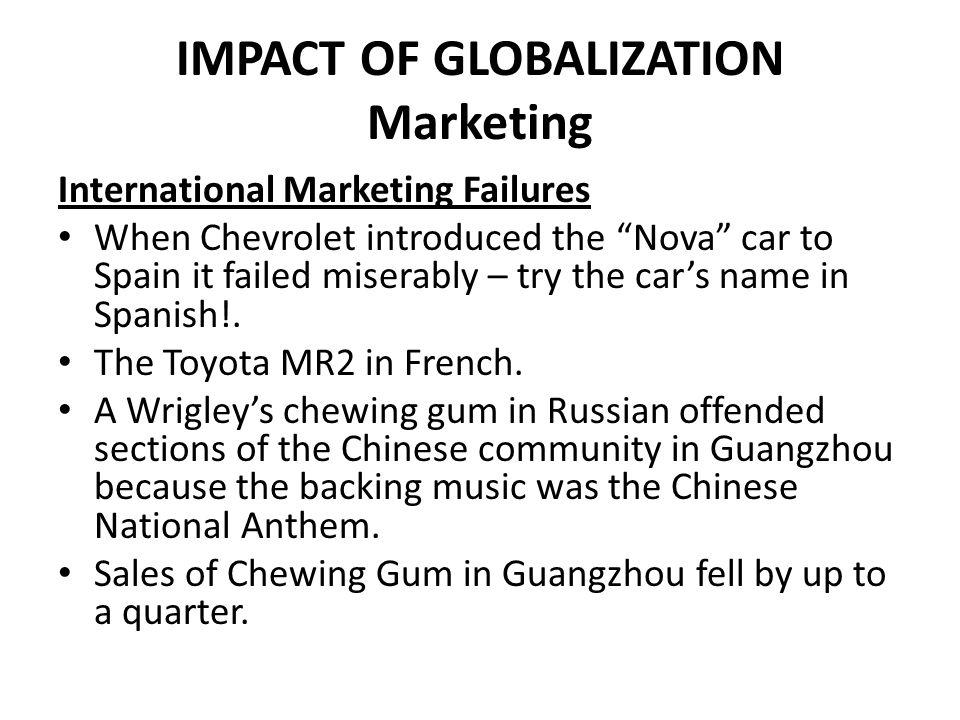 IMPACT OF GLOBALIZATION Marketing