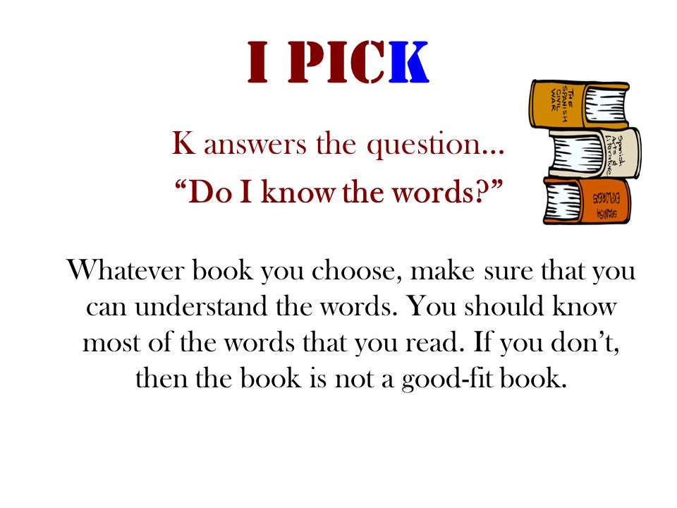 K answers the question…