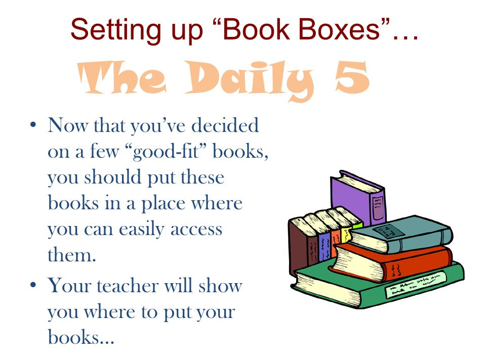 Setting up Book Boxes …