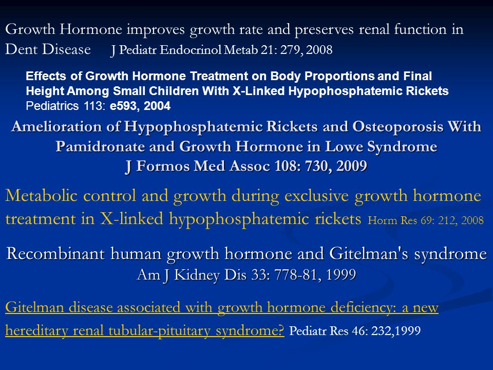 Recombinant human growth hormone and Gitelman s syndrome