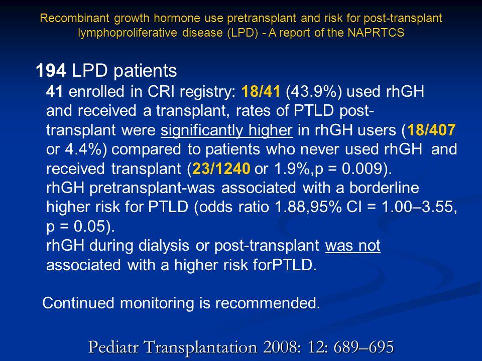 Pediatr Transplantation 2008: 12: 689–695