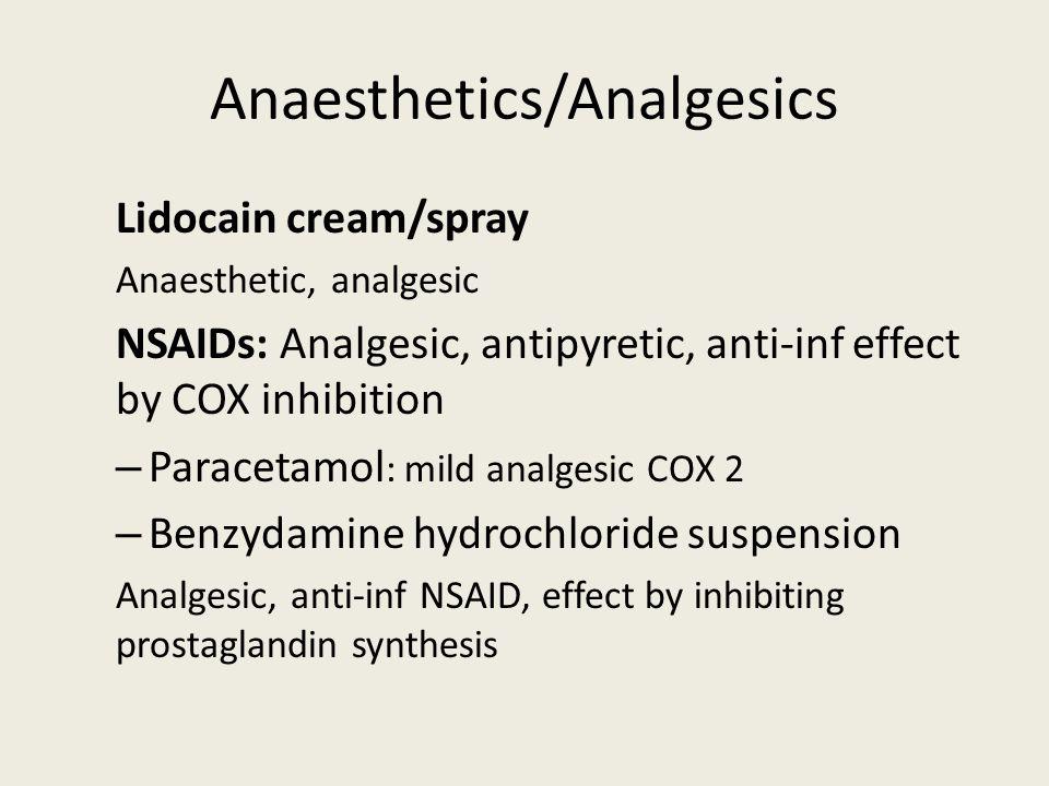 Anaesthetics/Analgesics