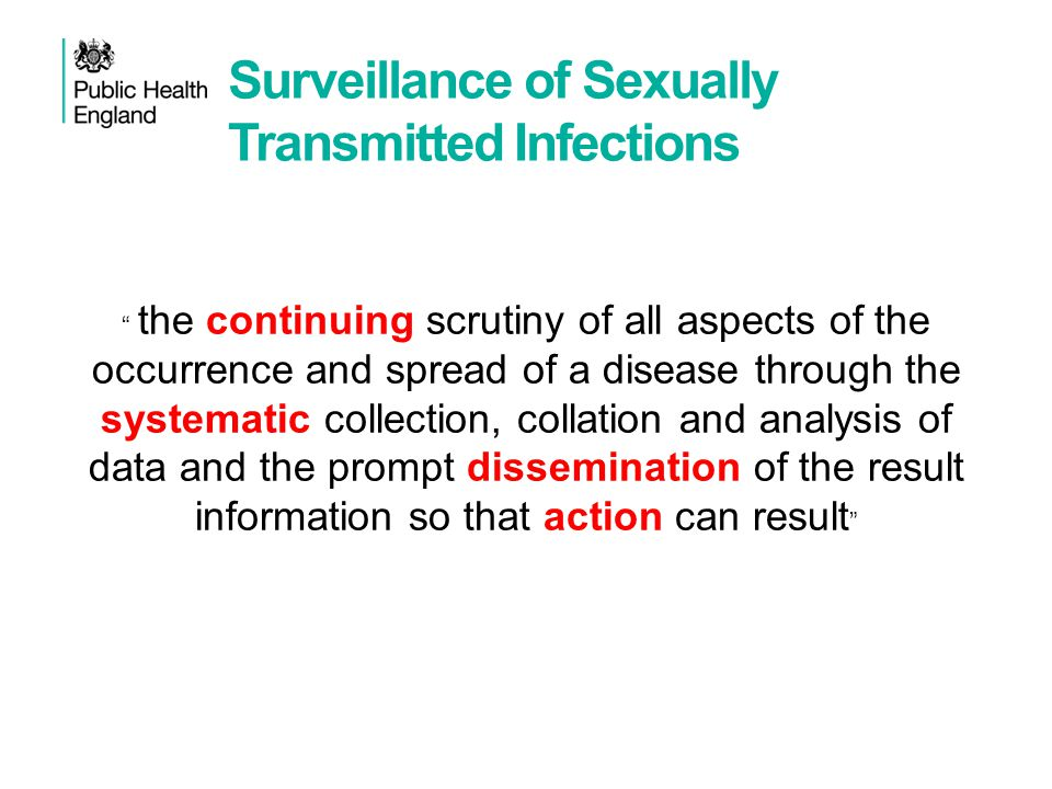 Surveillance of Sexually Transmitted Infections
