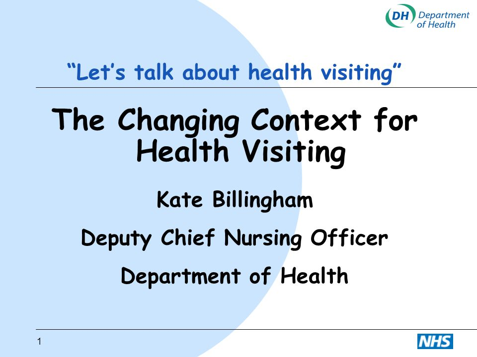 Let's talk about health visiting