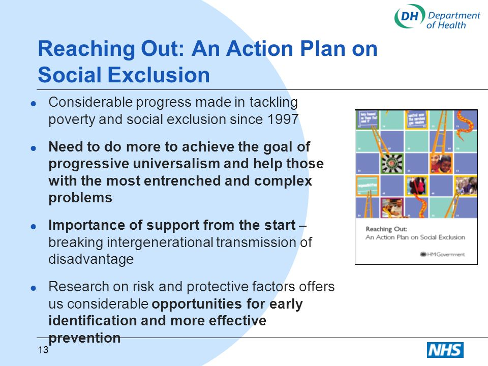 Reaching Out: An Action Plan on Social Exclusion