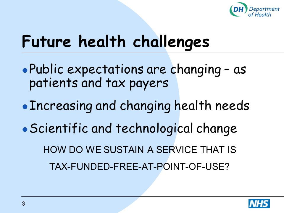 Future health challenges