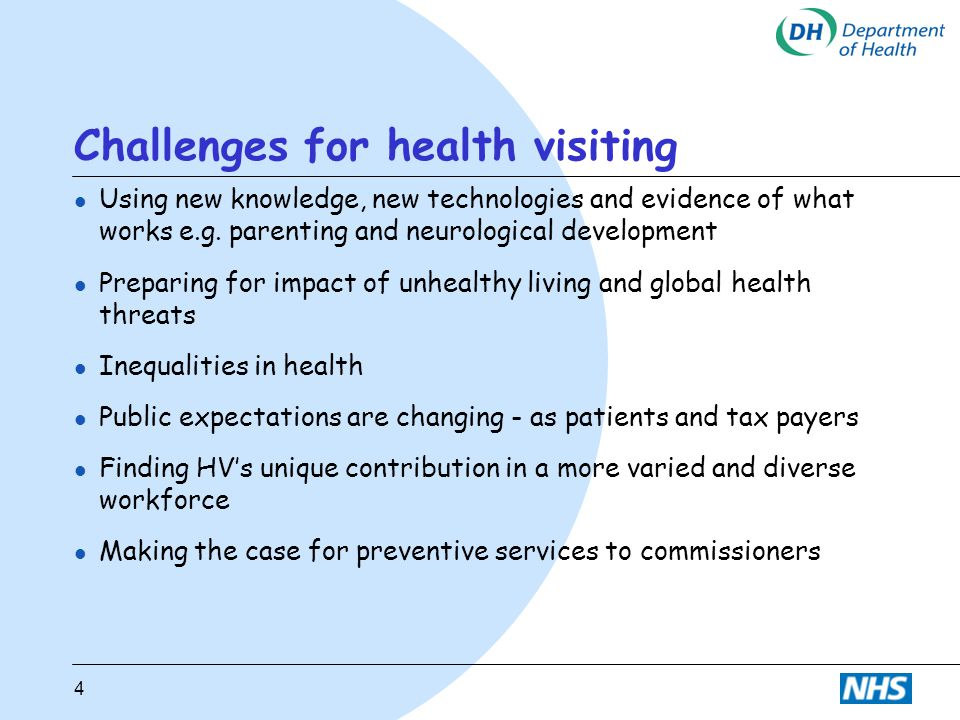 Challenges for health visiting