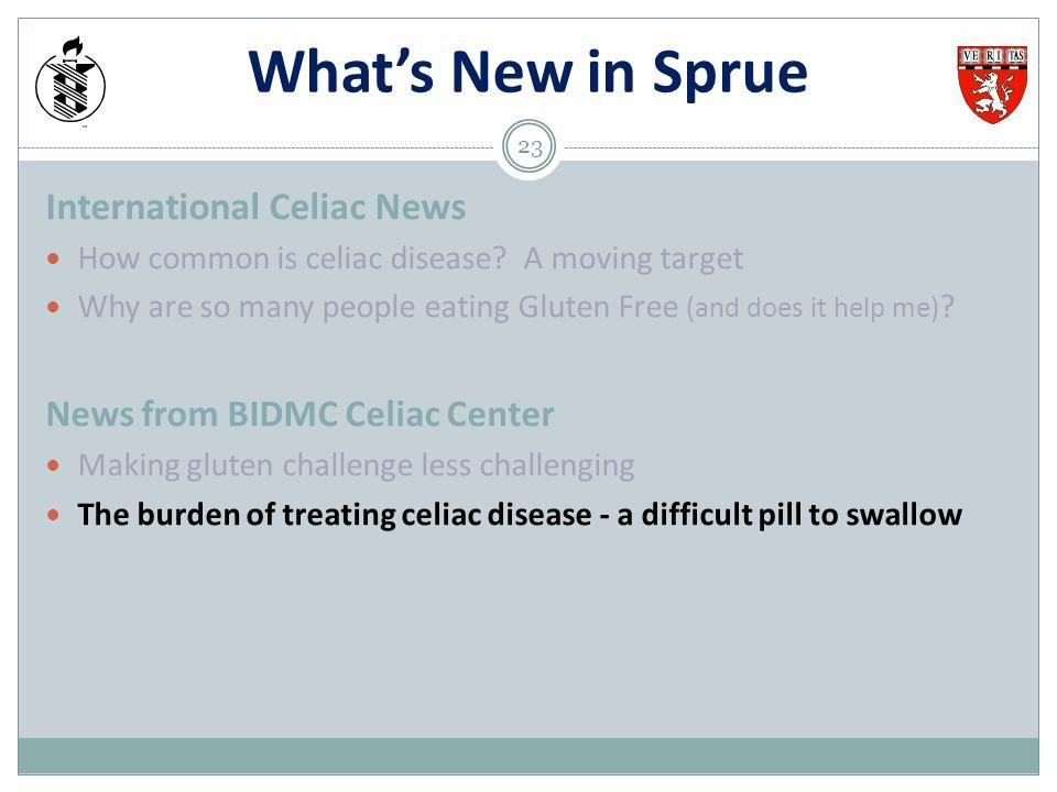 What's New in Sprue International Celiac News