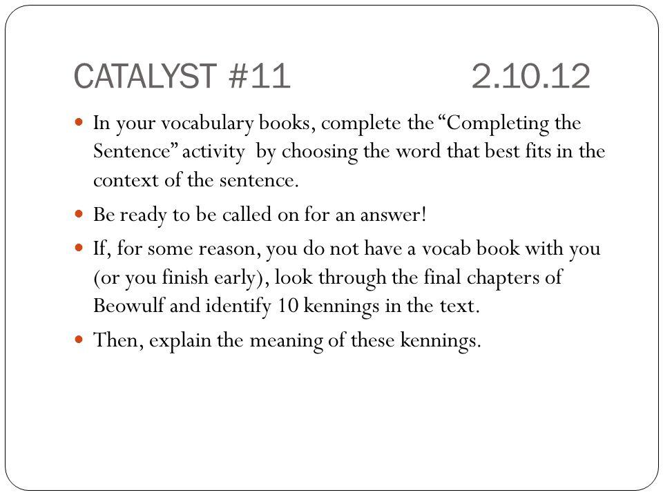 CATALYST #11 2.10.12