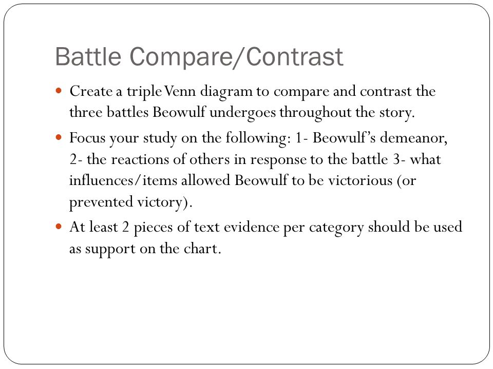 Battle Compare/Contrast