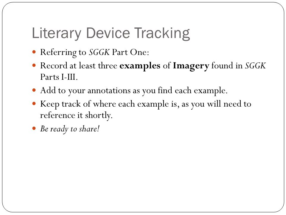 Literary Device Tracking