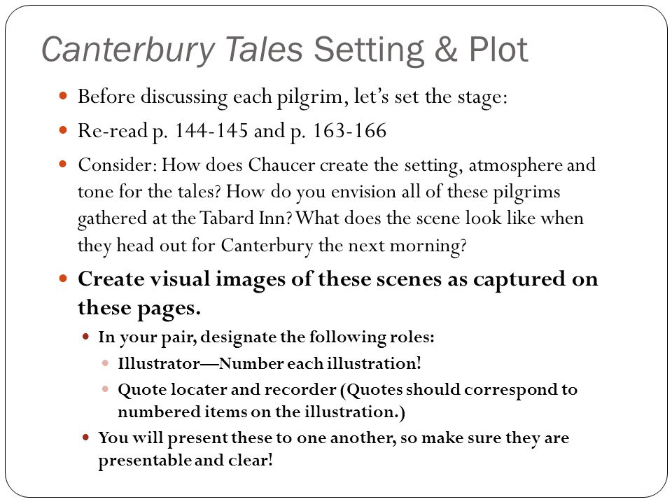 Canterbury Tales Setting & Plot