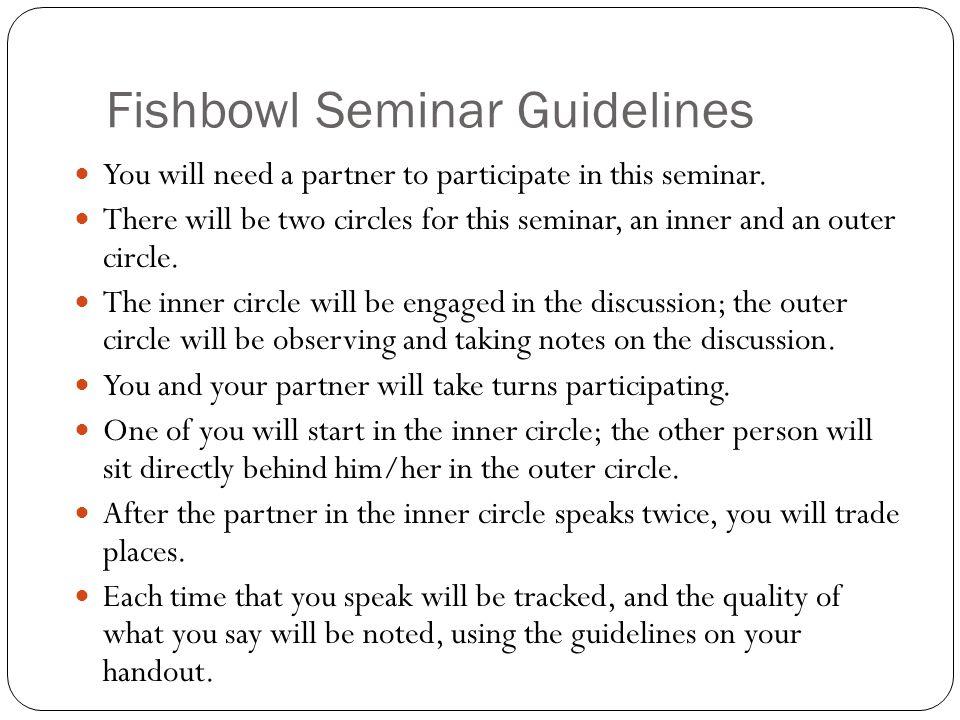 Fishbowl Seminar Guidelines