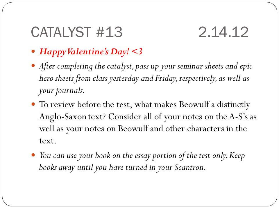 CATALYST #13 2.14.12 Happy Valentine's Day! <3