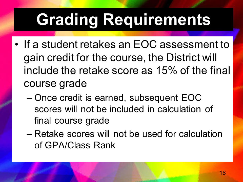Grading Requirements