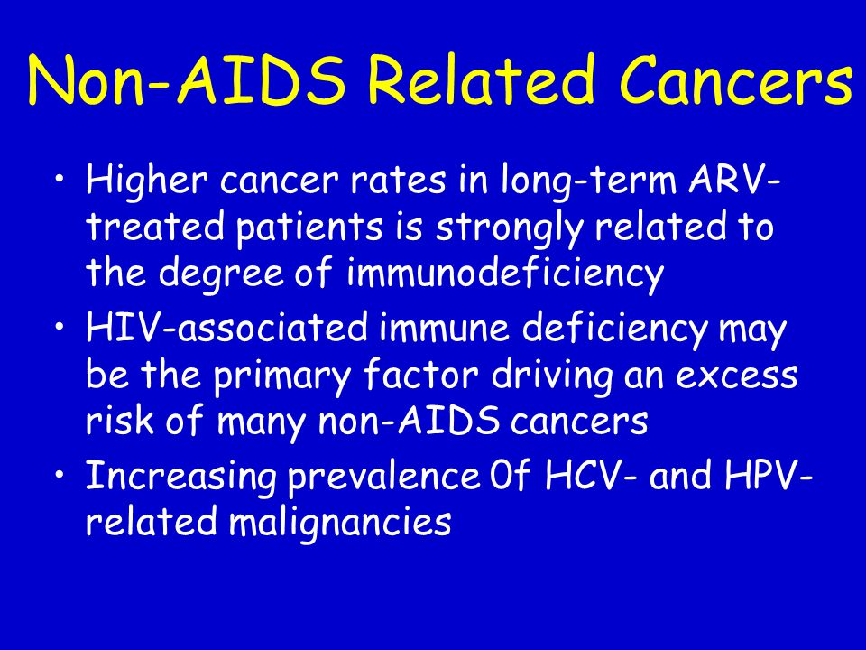Non-AIDS Related Cancers