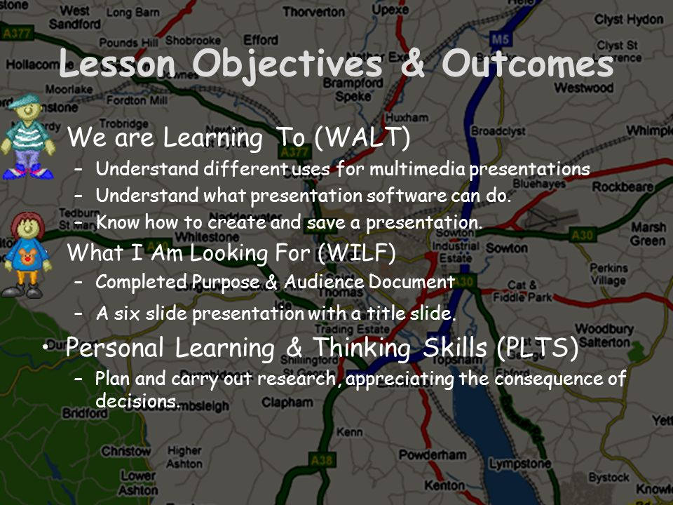 Lesson Objectives & Outcomes