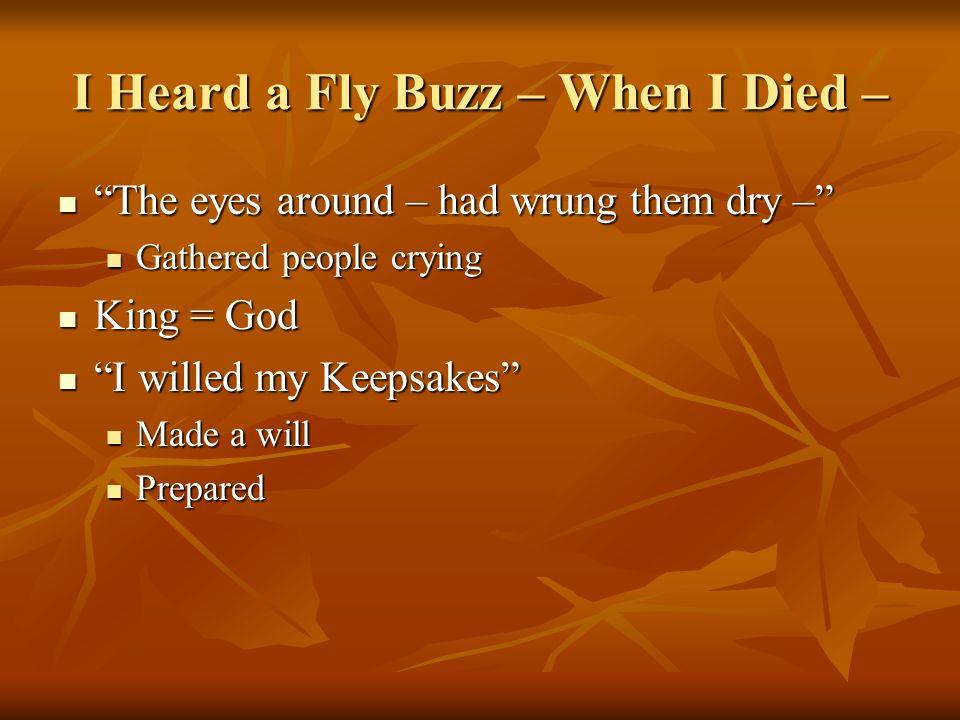 I Heard a Fly Buzz – When I Died –