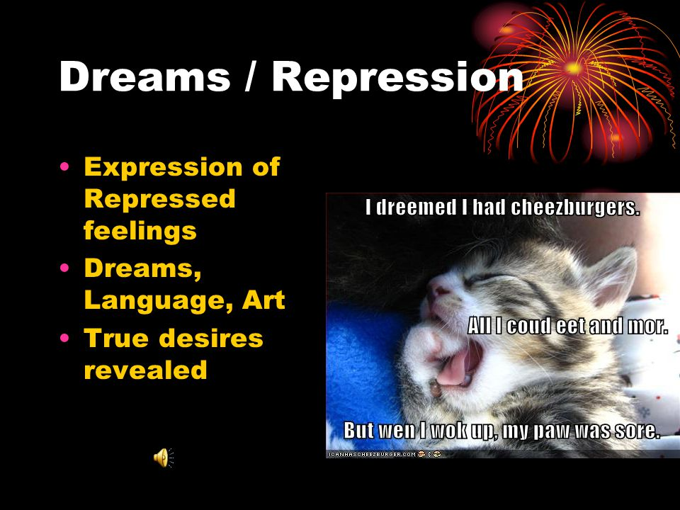 Dreams / Repression Expression of Repressed feelings
