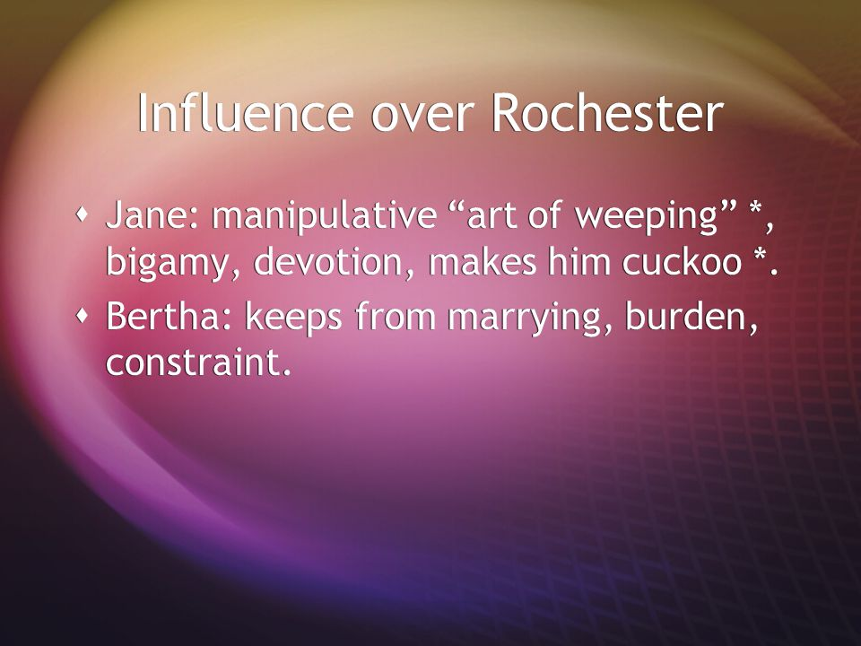 Influence over Rochester